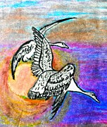 The Geese Print by Jo-Ann Hayden
