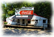 Coca-cola Signs Metal Prints - The General Store Metal Print by Mel Steinhauer
