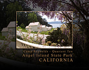 Nike Metal Prints - The Generals Veranda at Camp Reynolds Angel Island State Park California Metal Print by David Rigg