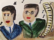 Notes Drawings - The Gershwin Brothers by Mary Carol Williams
