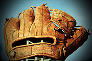 Att Baseball Park Framed Prints - The Giants Glove Framed Print by Holly Blunkall