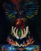 Metaphysical Realism Painting Prints - The Gift Print by Kd Neeley