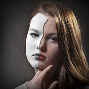 Hiding Art - The Girl Behind the Mask by Erik Brede