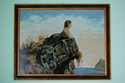 Rock Tapestries - Textiles Originals - The Girl on the Rock by Kalina Nikolova