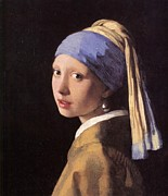 Girl With A Pearl Earring Paintings - The Girl With A Pearl Earring by Johannes Vermeer