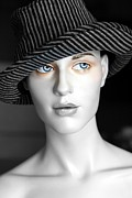 The Girl With The Fedora Hat Print by Sophie Vigneault