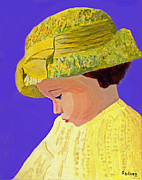 Reverie Paintings - The Girl With The Straw Hat by Rodney Campbell