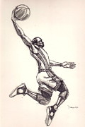Air Jordan Drawings - The Gladiator 2 by Dallas Roquemore