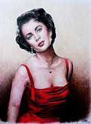 Red Lips Painting Originals - The Glamour Days by Andrew Read
