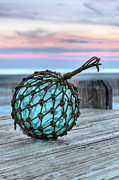 Atlantic Beaches Prints - The Glass Fishing Float Print by JC Findley