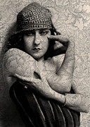 Sarah Vernon Metal Prints - The Gloria Swanson Tattoo Metal Print by Sarah Vernon