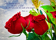 Religious Artist Art - the glory of God - Psalm 19 -1 by Ella Kaye
