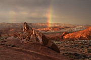 Valley Of Fire Prints - The Glory Of Sandstone Print by Bob Christopher