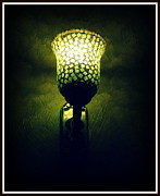 Lamp Ceramics Acrylic Prints - The glow.. Acrylic Print by Utkarsh Maheshwari