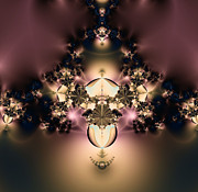 Night Lamp Prints - The Glow Within Print by Rhonda Barrett