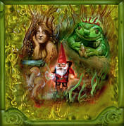 Frog Prince Prints - The Gnomes Journey Print by Luis  Navarro
