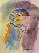 Goalie Paintings - The Goalie by Desmond Raymond
