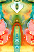 Medicine Painting Prints - The Goddess - Abstract Art by Sharon Cummings Print by Sharon Cummings