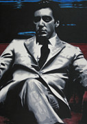 Al Pacino Painting Posters - The Godfather 2013 Poster by Luis Ludzska