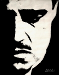 Black Painting Posters - The Godfather Poster by Dale Loos Jr