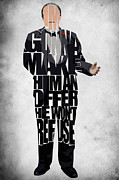 Pop Icon Art - The Godfather Inspired Don Vito Corleone Typography Artwork by Ayse Toyran