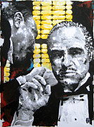 The Godfather Painting Posters - The Godfather Poster by Michael Leporati