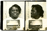 Mug Shot Prints - The Godfather of Soul Print by Bill Cannon