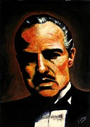 Mafia Paintings - The Godfather by Salman Ravish