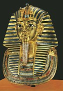 Tutankhamen Framed Prints - The Gold Mask. Ca. 1340 Bc. Gold Mask Framed Print by Everett