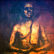 Buddhism Mixed Media - The Golden Buddha II by Angela Doelling AD DESIGN Photo and PhotoArt