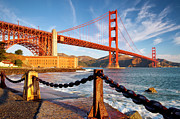 Golden Gate Framed Prints - The Golden Gate Framed Print by Brian Jannsen