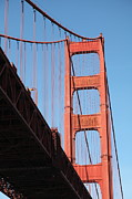 Steel Construction Prints - The Golden Gate Bridge 5D21578 Print by Wingsdomain Art and Photography