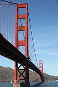 Steel Construction Prints - The Golden Gate Bridge 5D21593 Print by Wingsdomain Art and Photography