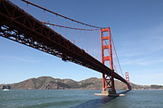Steel Construction Prints - The Golden Gate Bridge 5D21606 Print by Wingsdomain Art and Photography
