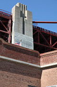 Brick Buildings Prints - The Golden Gate Bridge at Fort Point - 5D21471 Print by Wingsdomain Art and Photography