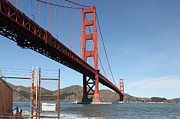 Brick Buildings Prints - The Golden Gate Bridge at Fort Point - 5D21478 Print by Wingsdomain Art and Photography