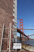 Brick Buildings Prints - The Golden Gate Bridge at Fort Point - 5D21480 Print by Wingsdomain Art and Photography