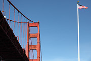 Frisco Pier Photos - The Golden Gate Bridge at Fort Point 5D21582 by Wingsdomain Art and Photography