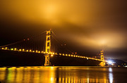 "Lights ""san Francisco"" Prints - The Golden Gate Bridge Print by James Yang"