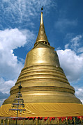 Wat Photos - The Golden Mount in Bangkok by Artur Bogacki