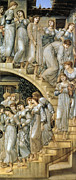 Dresses Prints - The Golden Stairs Print by Edward Burne Jones