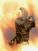 Golfer Prints Art - The Golf Swing by Dennis Buckman