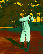 Wing Chee Tong Digital Art Prints - The Golfer - 20130208 Print by Wingsdomain Art and Photography