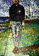 Sports Art Paintings - The Golfer by Kevin J Cooper Artwork