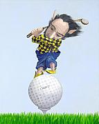 Golfer Paintings - The Golfer by Leonard Filgate