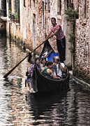 Gondolier Photo Framed Prints - The Gondolier Framed Print by Wade Aiken