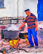 Rossidis Paintings - The good cook by George Rossidis