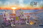 Human Skeleton Posters - The Good Old Days Poster by Betsy A Cutler East Coast Barrier Islands