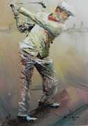 Golf Painting Prints - The Good Old Days Print by John Henne
