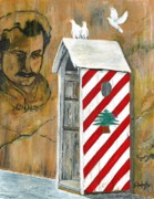 Cedars Paintings - The Good Place by J F Dagher